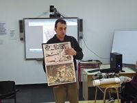 Carlos Barocelli realizó un taller de acuarelas para alumnos de la carrera de Diseño Equipacional.