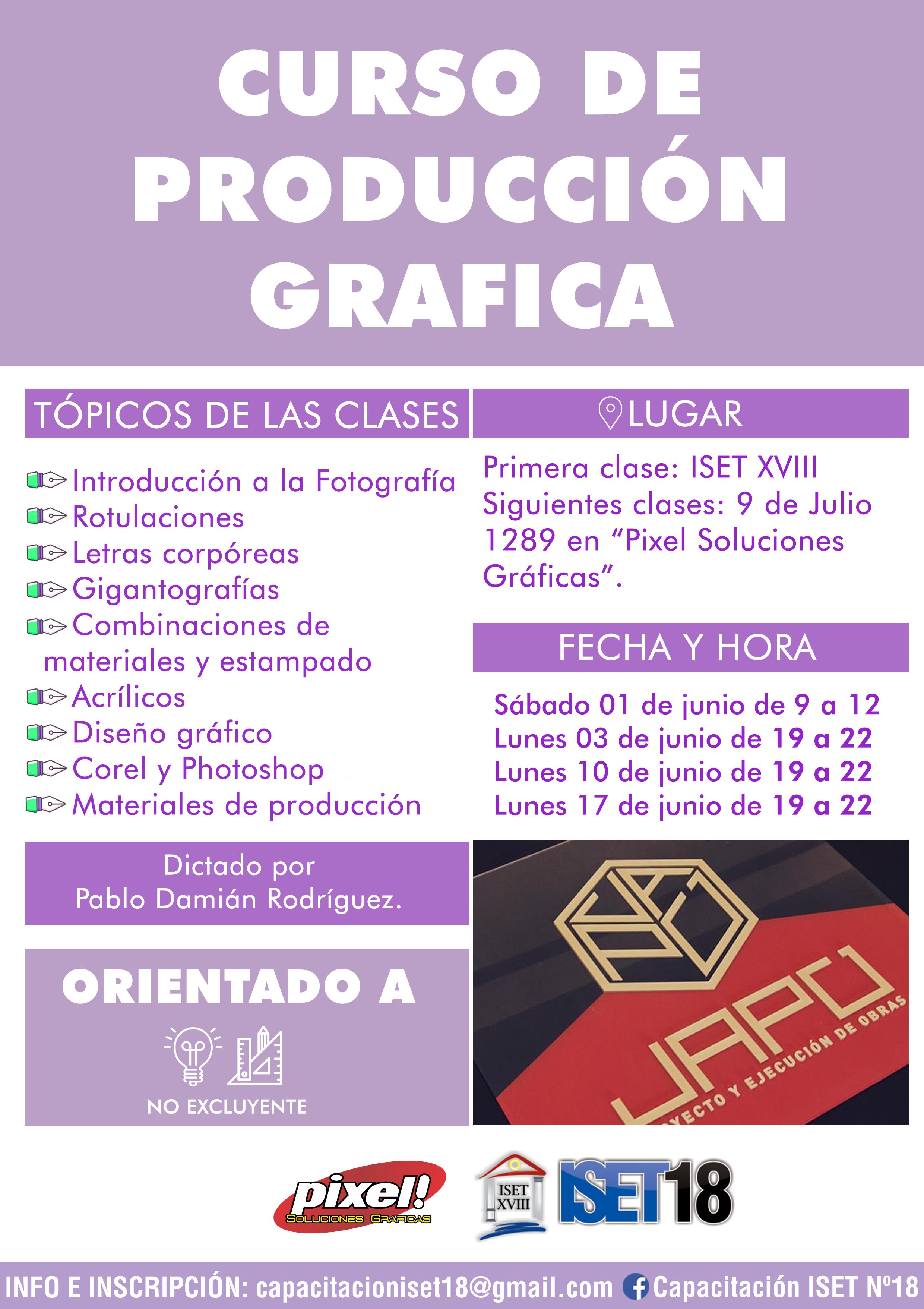 Curso de PRODUCCIÓN GRÁFICA