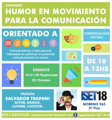 Seminario HUMOR EN MOVIMIENTO PARA LA COMUNICACIÓN dictado por SALVADOR TRAPANI