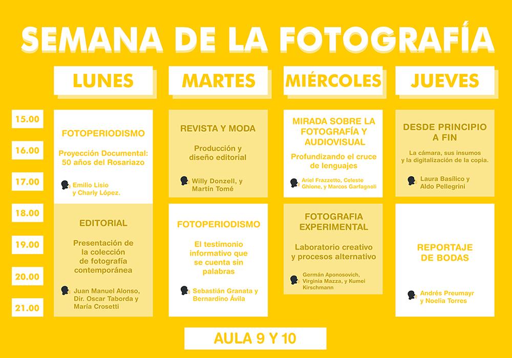 Cronograma Semana de la Fotografía