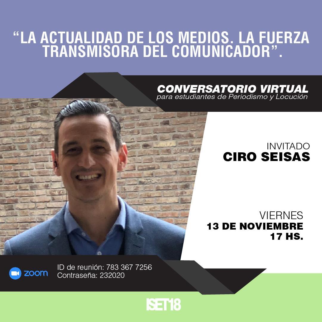 Conversatorio para estudiantes de Locución y Periodismo